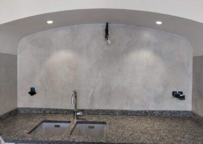 AM PEINTURE : Pose de béton ciré sur murs de cuisine
