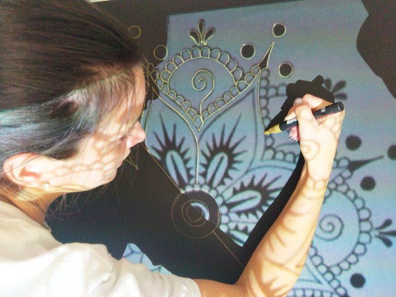 AM PEINTURE : réalisation de fresques murales par lumière projetée - décoration intérieur Alpes de Haute Provence