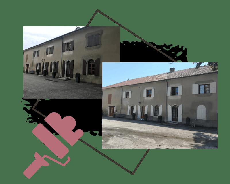 AM PEINTURE : Rafraichissement menuiseries : volets, portes et portes fenêtres en bois