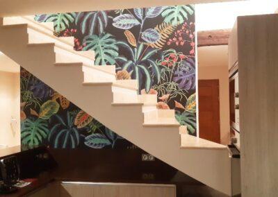 AM PEINTURE : décoratrice : pose de papier peint en panoramique - décoration tropciale